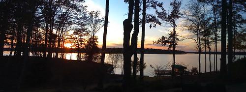 thanksgiving sunset panorama moblog georgia pano 2008 lakeoconee iphone cs3