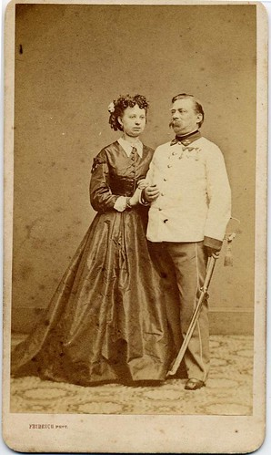Austrian Infantry Officer With Wife