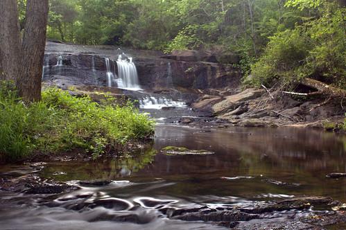 longexposure water rural waterfall nc rocks northcarolina waterfalls privateproperty naturephotography gastoncounty davidhopkinsphotography