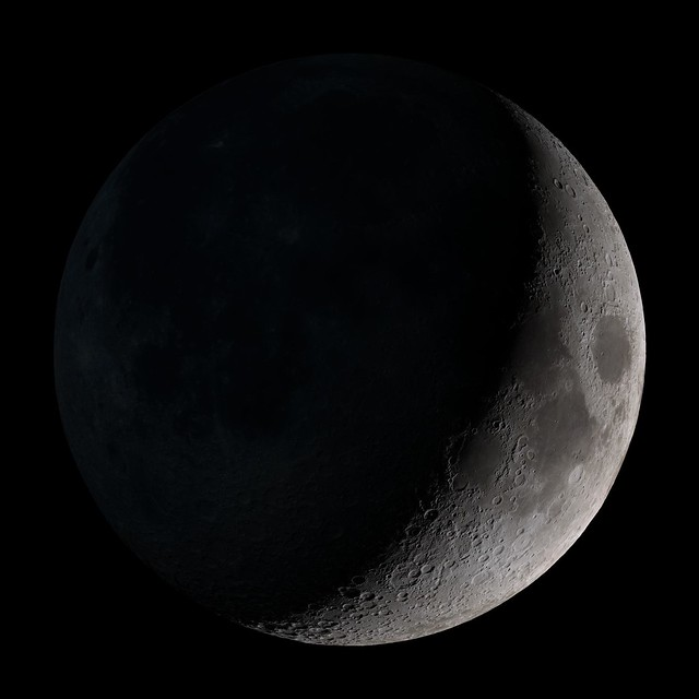a Waxing crescent moon is seen in the sky