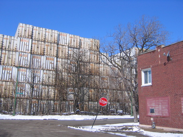 Containers piled high back of the yards chicago flickr - Container homes chicago ...