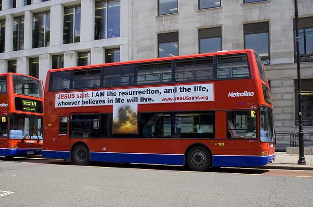 London Bus advertising Jesus