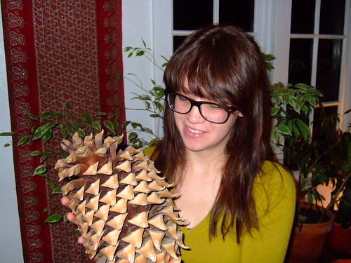 Tramaine is hot with or without a giant pinecone!