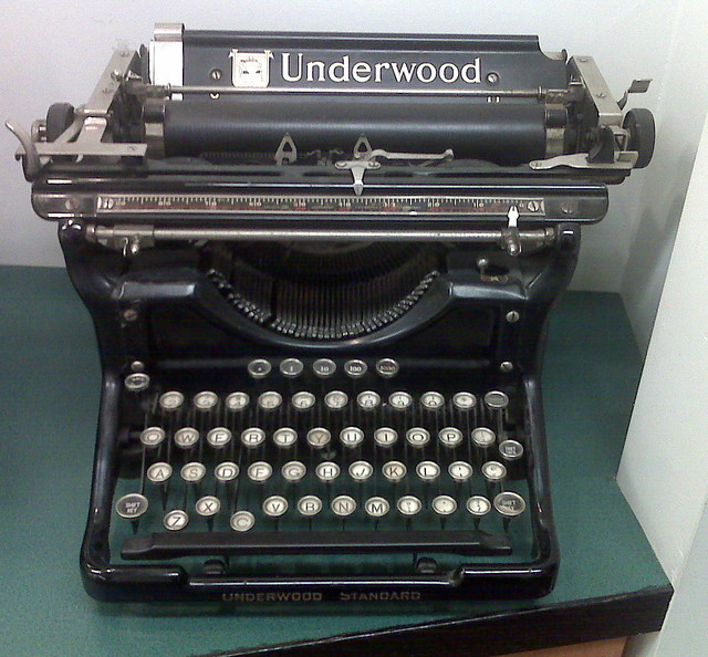 Old Typewriter at douchebag urologist's office