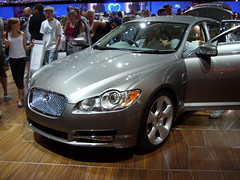 automobile(1.0), automotive exterior(1.0), executive car(1.0), wheel(1.0), vehicle(1.0), performance car(1.0), automotive design(1.0), auto show(1.0), jaguar xf(1.0), sedan(1.0), land vehicle(1.0), luxury vehicle(1.0),