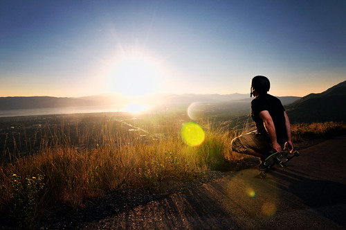 sunset utah nikon long board valley peek provo squaw boarder d300 sb800 strobist
