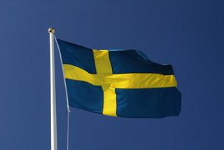 Sveriges flagga, foto: Florian Prischl