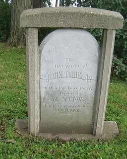John Douglas - buried in 1856 at the Salt Creek Cemetery - Yarmouth, Elgin, Ontario, Canada