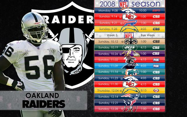 Raiders Schedule Wallpaper Oakland Raiders Schedule