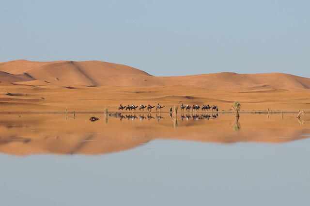 Caravan reflection, Morocco