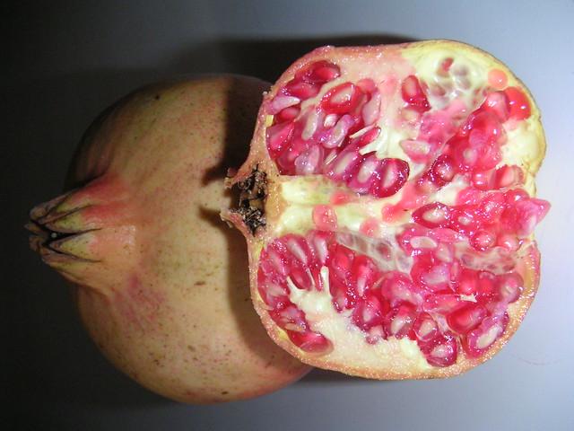 granada abierta - detalle semillas