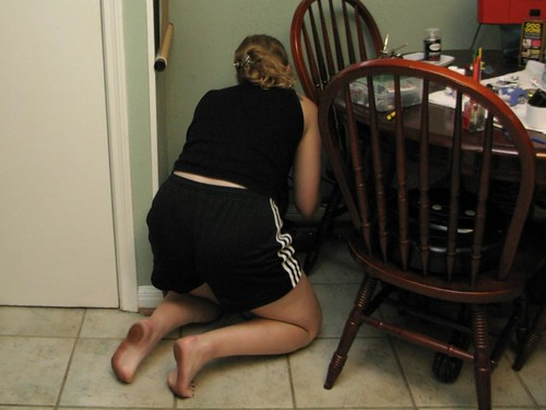 Sometimes I have to send Sarah to the corner for a timeout.  This time I caught her not sharing her transformers with the other neighborhood girls.  A surprising problem for a Yuppie woman in her early 20s.