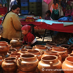 Ceramics at Totonicapan Market, Guatemala