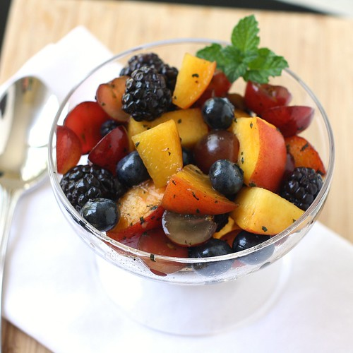 Summer Fruit Salad with Mint Sugar