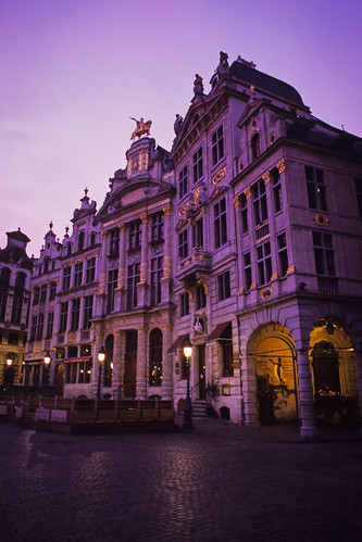 old morning winter brussels film sunrise 35mm dawn iso100 nikon fuji purple belgium grandplace magic cobblestone velvia chrome 100 positive analogue fe charming manualfocus nikonscan 4000dpi coolscan9000ed samagnew smashandgrabphotocom educationleave