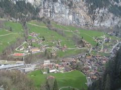 während der Fahrt von der Grütschalp nach Lauterbrunnen