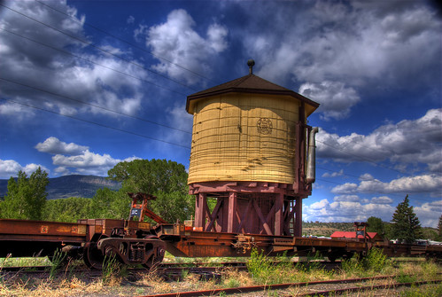 railroad blue sky clouds landscape colorado track railway historic wikipedia traintrack watertank railfan hdr drg southfork railfanning nationalregisterofhistoricplaces photomatix drgw nrhp riograndecounty denverriogranderailroad 02001132 200806