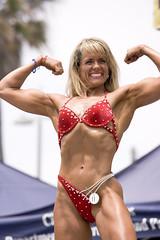 model, fitness and figure competition, clothing, abdomen, muscle, photo shoot, blond, swimwear, bikini, bodybuilding,