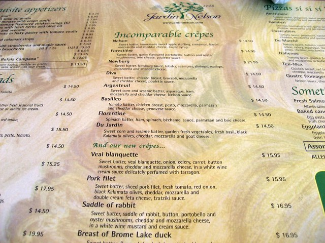 menu at jardin nelson montreal 2008 flickr photo