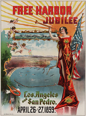Free Harbor Jubilee poster, Los Angeles & San Pedro, California, 1899