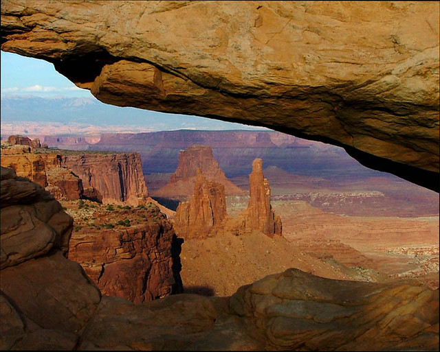 Washerwoman Arch through Mesa Arch