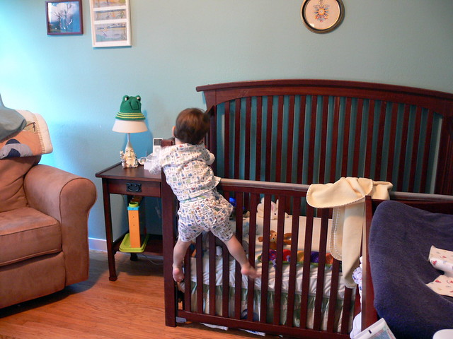 Climbing Out Of His Crib