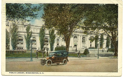Carnegie Library, DC, postcard, 1918, front