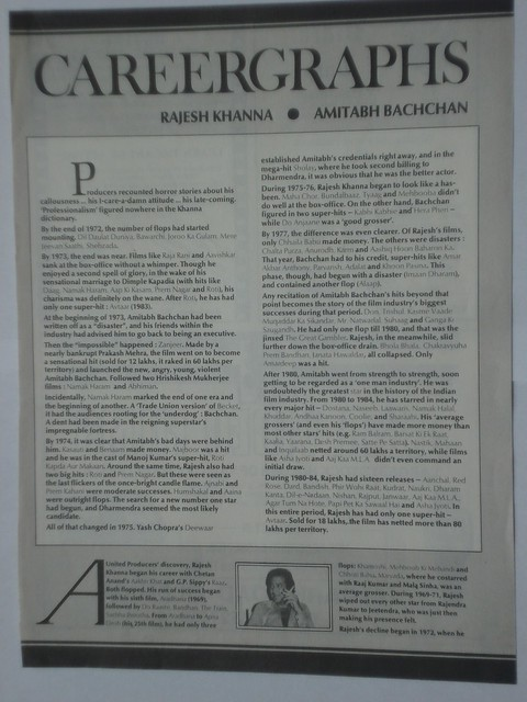 Careergraphs - Rajesh Khanna & Amitabh Bachchan - 1