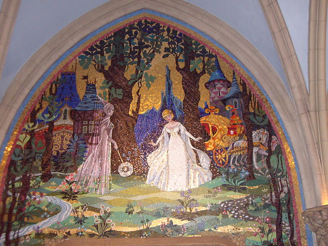 Mosaic inside Cinderella Castle