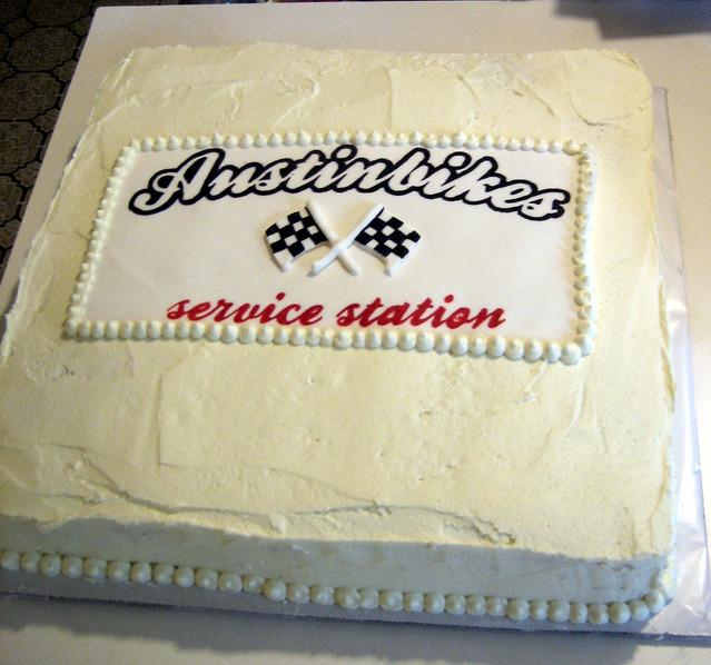 Austin Bikes Grand Re Opening Cake Vegan