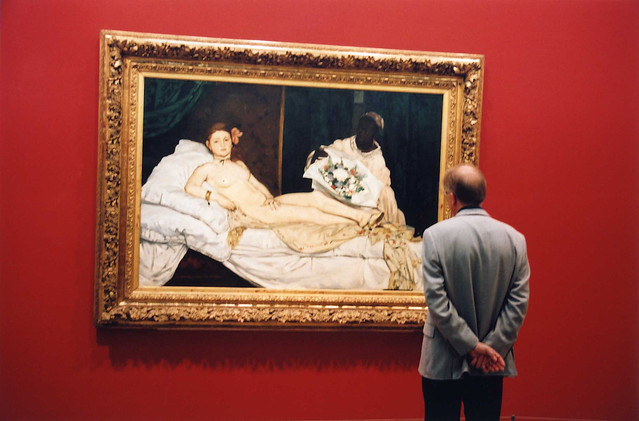 Edward Manet's Olympia Painting. Musee d'Orsay, Paris, France