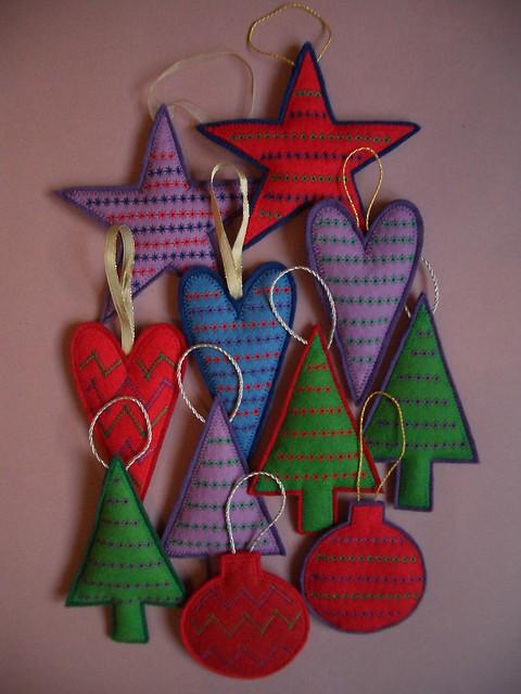Christmas Felt Hanging Ornaments 2006