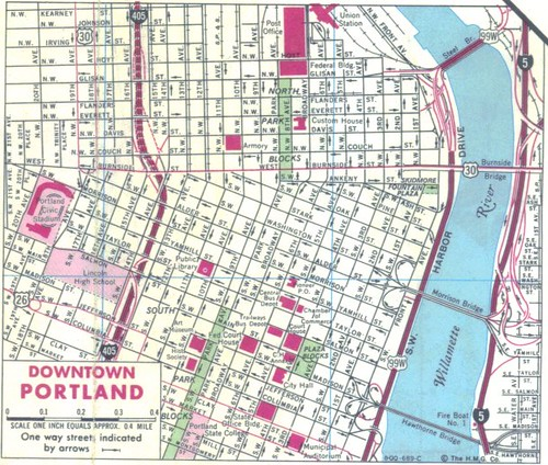 Old Downtown Portland Map  Flickr  Photo Sharing