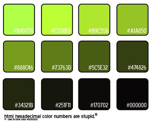 Html Hexadecimal Colors Green Flickr Photo Sharing