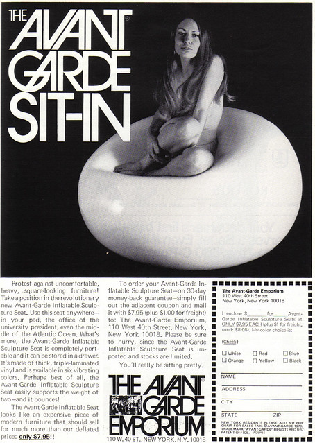 Vintage Ad #664: The Avant Garde Sit-In