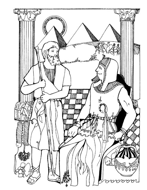 aaron and moses coloring pages - photo#26