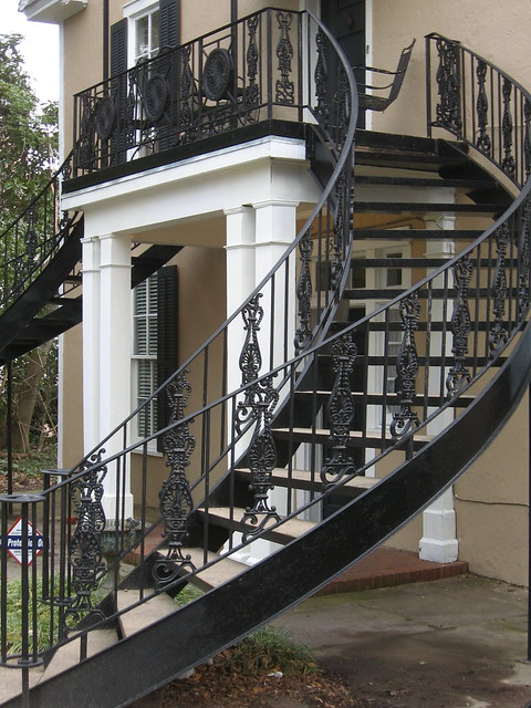 Curved Wrought Iron Railing Stairs To Balcony Along North Flickr Photo Sharing