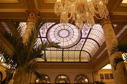 Restored Palm court Laylight, Plaza Hotel, NY