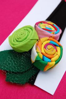 Rosette Headband in Multicolor Lollipop