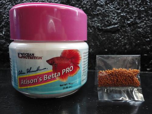 Wts fighting fish food pellet atison 39 s betta pro for Beta fish food