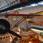 Steven F. Udvar-Hazy Center: south hangar panorama, including Monocoupe 110 Special among others