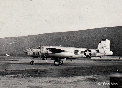 EARLY B-25 AT LOCAL AIRPORT BEFORE THE WAR