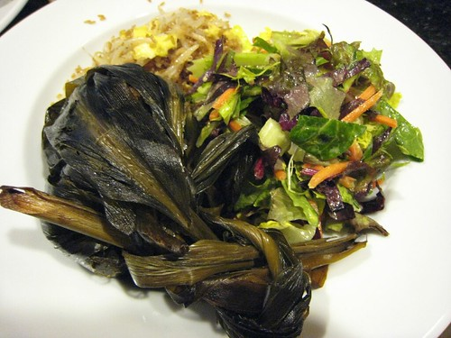 lau lau, fried rice, mung bean sprouts IMG_2156