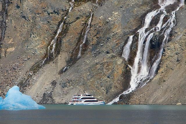 Glacier Waterfall Near Upsala Glacier
