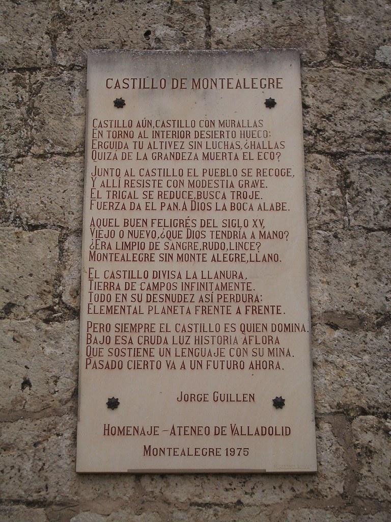 Castillo de Montealegre de Campos placa (Valladolid, Castilla y León)