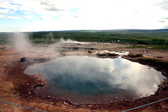 soil, water, body of water, geyser, reflection, spring,