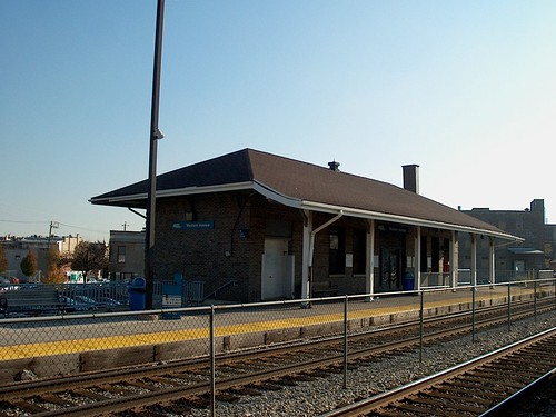 The Metra Western Avenue commuter rail station. Chicago Illinois. October 2006. by Eddie from Chicago