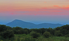Old Rag Mountain at Dusk