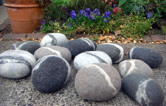 Large felt river rocks flickr photo sharing for Large river stones for landscaping