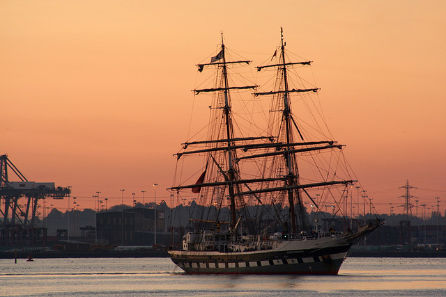 Tall ship at southampton